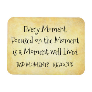 Focus on moment 1 rectangular photo magnet