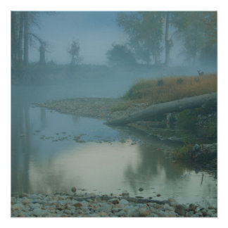 Foggy Bitterroot River Morning Design