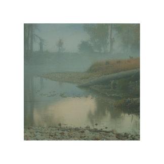 Foggy Bitterroot River Morning Design Wood Prints