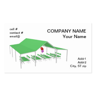 folding chair and tables with party balloons pack of standard business cards