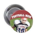 Football Mum Custom Photo Button