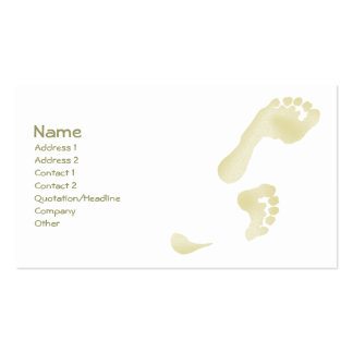 Footprints Pack Of Standard Business Cards