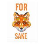 For Fox Sake Funny Postcard