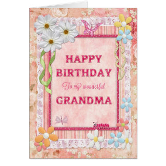 For Grandma, craft birthday card