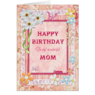 For mom, craft birthday card