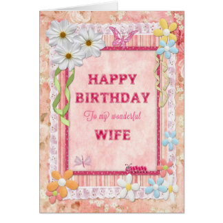For wife, craft birthday card