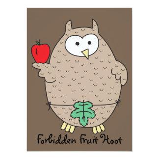 Forbidden Fruit Hoot 14 Cm X 19 Cm Invitation Card