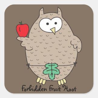 Forbidden Fruit Hoot Square Sticker