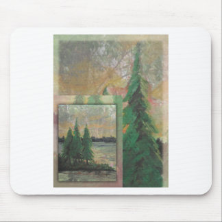 Forest witness mouse pad