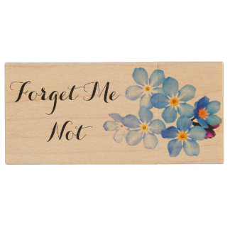 Forget Me Not Wooden Flash Drive Wood USB 3.0 Flash Drive