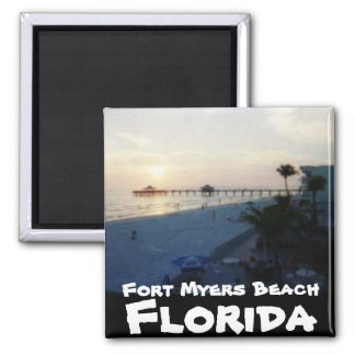Fort Myers Beach, Florida Square Magnet