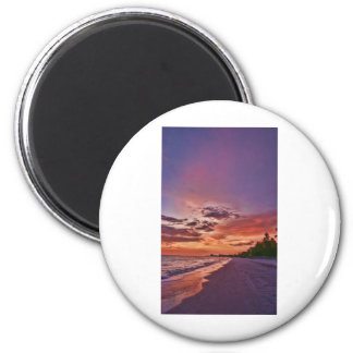 Fort Myers Beach Sunset 6 Cm Round Magnet