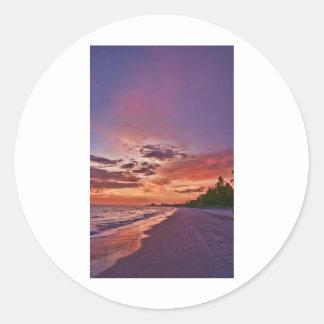 Fort Myers Beach Sunset Round Sticker