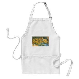 Four Cut Sunflowers by Vincent van Gogh, Fine Art Standard Apron