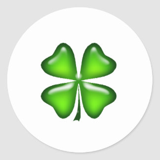 Four Leaf Clover St. Patrick's Day Gift Round Sticker