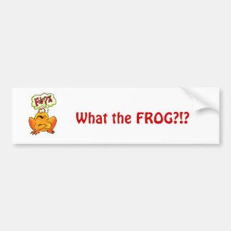 Four-lettered Frog Bumper Sticker
