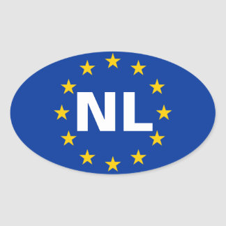 "FOUR Netherlands ""NL"" Oval Sticker"