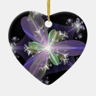 Fractal Art Ceramic Heart Decoration