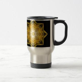 Fractal Stardust gold Stainless Steel Travel Mug
