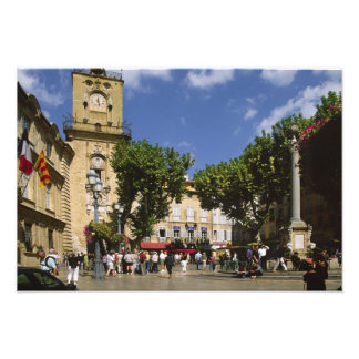 France, Aix en Provence, La Place de la Maire Art Photo