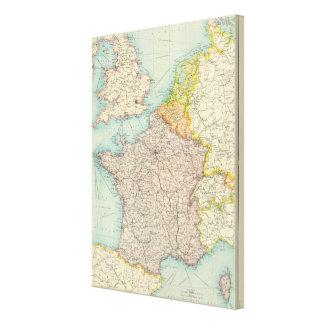 France, Belgium & Holland political Stretched Canvas Prints