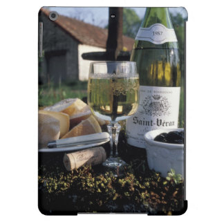 France, Burgundy, Chablis. Local wine and iPad Air Cases