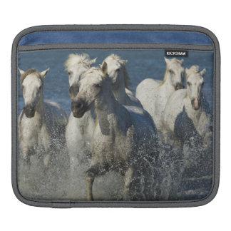 France, Camargue. Horses run through the estuary 4 iPad Sleeves