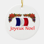 France Christmas Round Ceramic Decoration