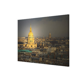 France, Paris. Les Invalides seen from the Gallery Wrapped Canvas