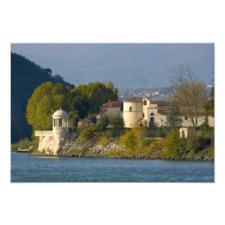 France, Rhone River, town near Vienne Photograph