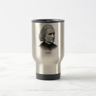 Franz Liszt, black Stainless Steel Travel Mug