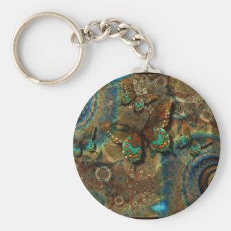Free Spirited Basic Round Button Key Ring