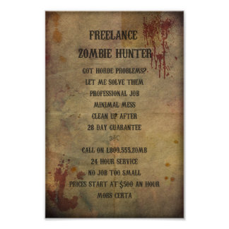 Freelance Zombie Hunter Poster