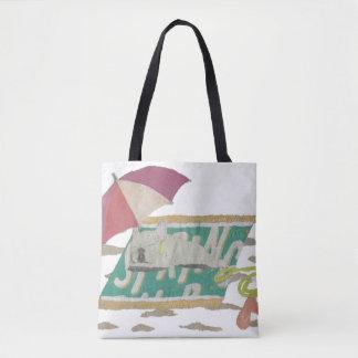 French Bulldog, Cream Frenchie, Colorful, Beach Tote Bag