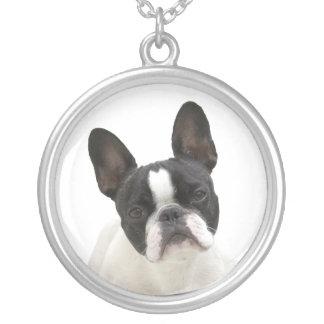 French bulldog cute photo necklace,  gift idea round pendant necklace