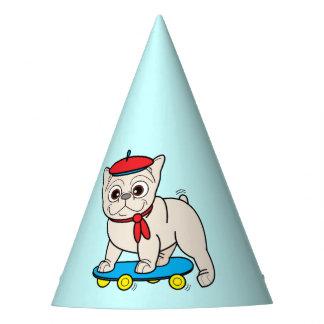 French Bulldog in a Skateboard Happy Birthday Party Hat