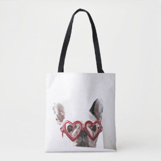 French Bulldog Sitting At Table Tote Bag