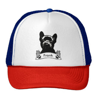 French Bulldog Stencil Personalized Cap