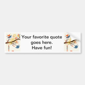 French Country Kitchen - Pans on floral pattern. Bumper Sticker