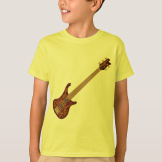 Fretless 5 String Bass Guitar Tshirt