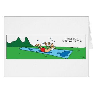 Freudian Slip and Slide Greeting Card