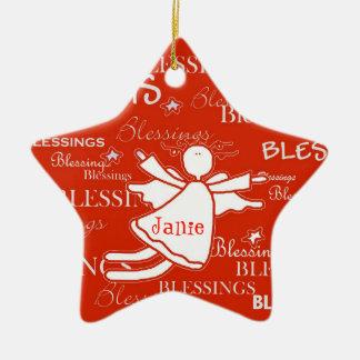 Friend Angel Blessings Custom Christmas Ornament