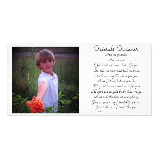 Friends forever personalized photo card