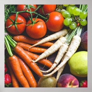 Fruits & Veggies kitchen poster