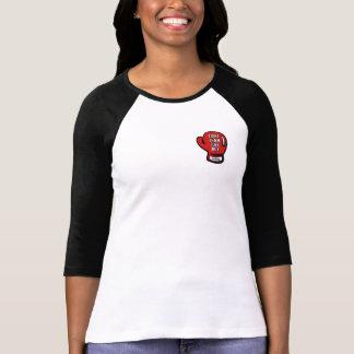 FTJB Ladies Mdm Raglan Blk T Shirts