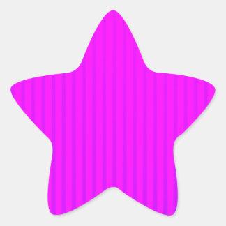 Fuchsia LED lamp Star Sticker