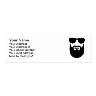 Full beard sunglasses pack of skinny business cards