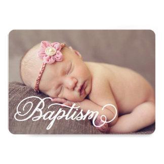 Full Photo Script | Baptism Invitation