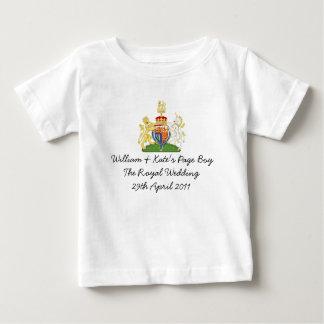 """Fun British Royal Wedding """"Page Boy"""" souvenir top T-shirts"""