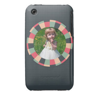 Fun Circle frame - vintage candy - dark iPhone 3 Case-Mate Cases